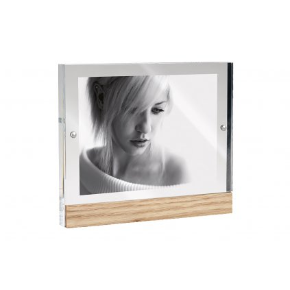 Mascagni Acrylic Frame Horizontal Oak Stand (rámeček - stojánek)