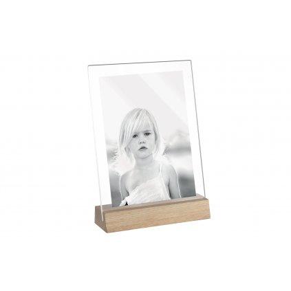 Mascagni Acrylic Frame with Stand 13x18 Oak (stánek s rámečkem)