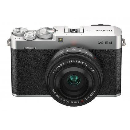 Fujifilm X-E4 + XF27mm F2,8 R WR Silver Kit (tělo a objektiv)