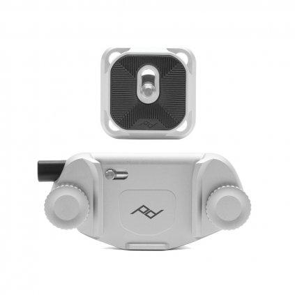 Peak Design Capture Camera Clip Silver (držák s destičkou)