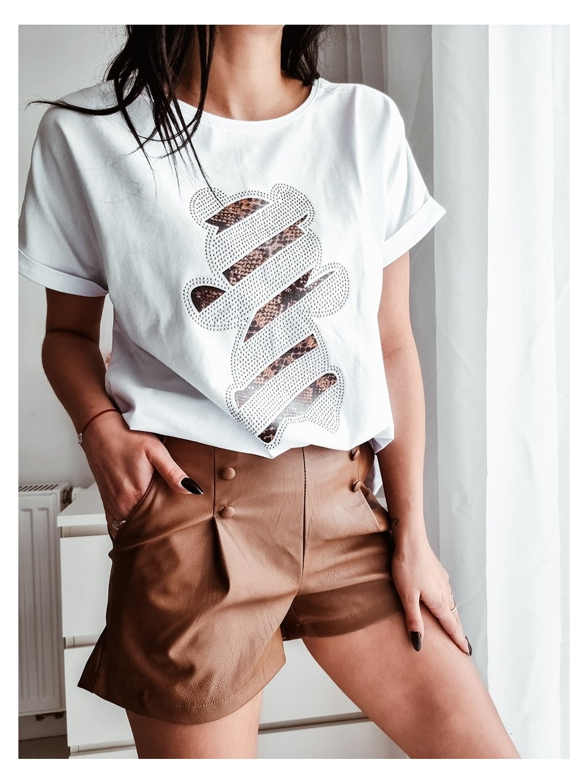 Dámske tričko La Pia Bear - biele