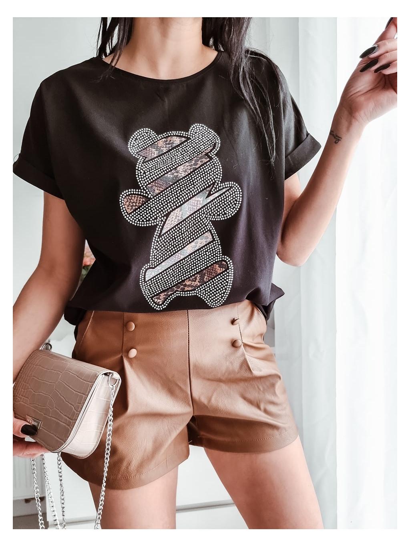 Dámske tričko La Pia Bear - čierne