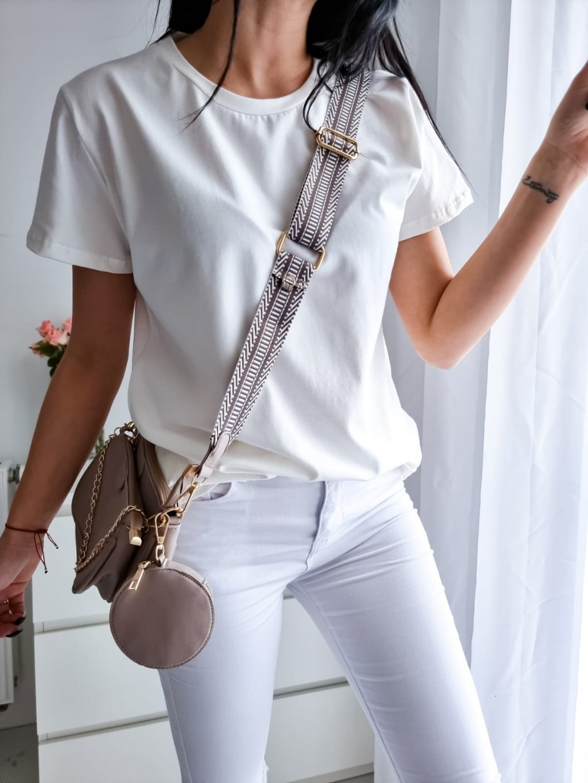 Basic tričko Short - biele