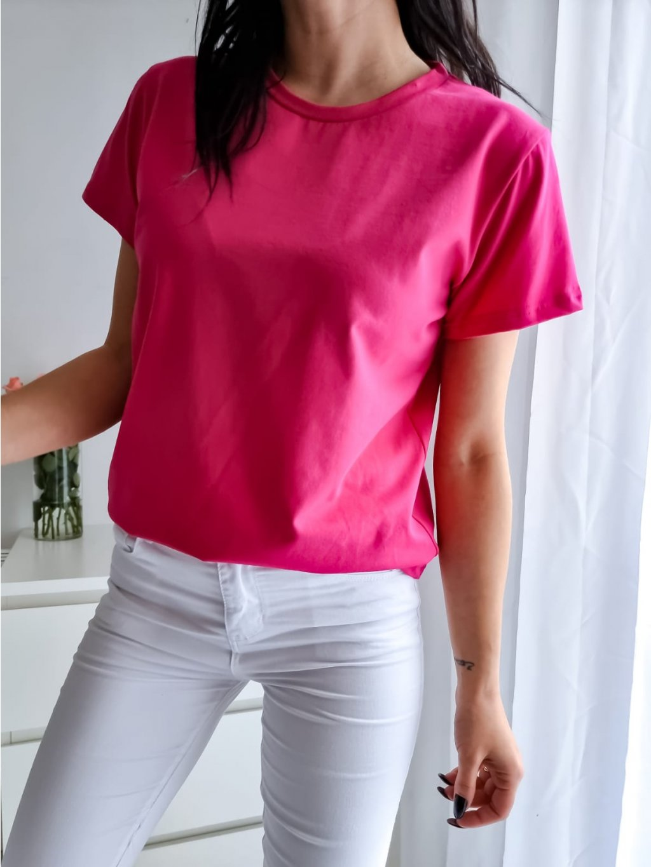 Basic tričko Short - fuchsiové