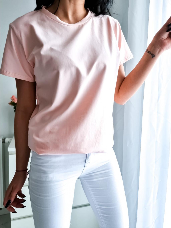 Basic tričko Short - marhuľové