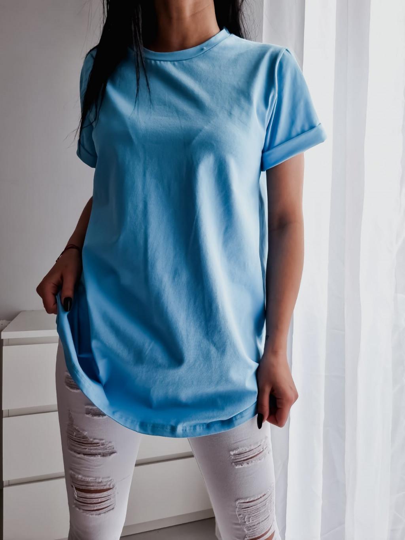 Basic tričko Long - modré