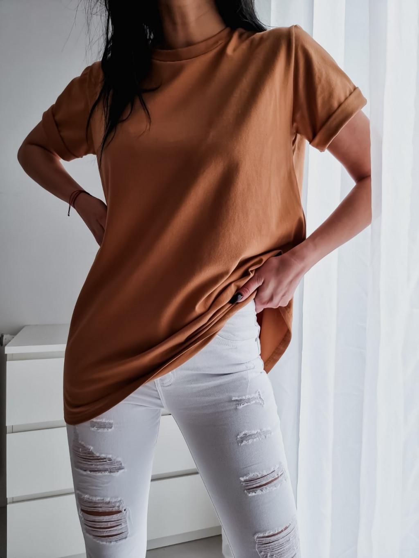 Basic tričko Long - hnedé