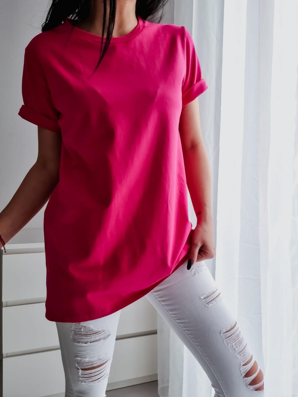 Basic tričko Long - fuchsiové