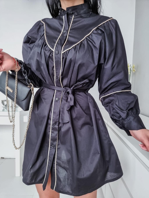 Dámske košeľové šaty Katrina - čierne