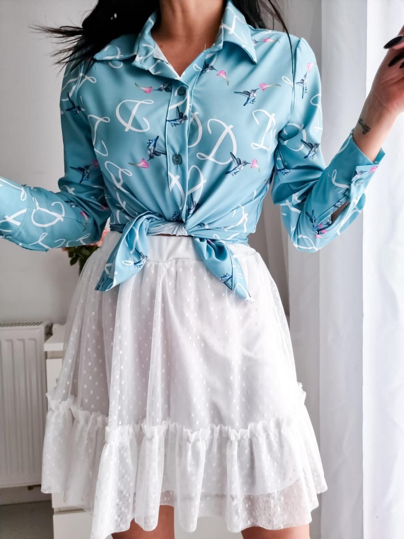 Dámska košeľa Bird - baby blue