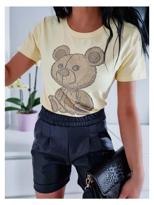 Dámske tričko Teddy Mix H2452 - žlté