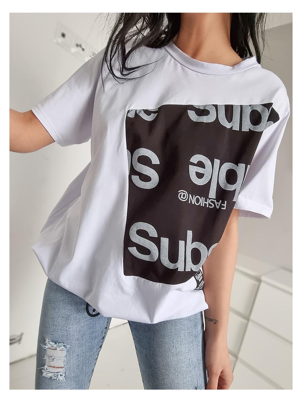 Dámske Oversize tričko Subscrible - čier