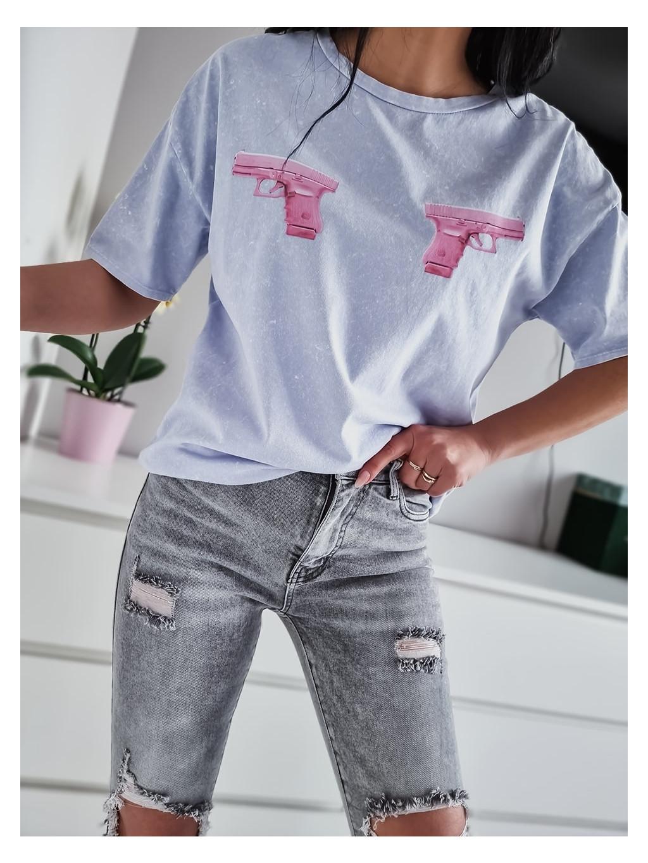 Dámske tričko Pink G. - modré