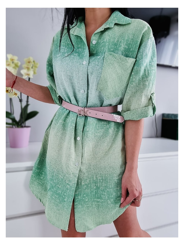 Dámske košeľové šaty Rainbow - zelené
