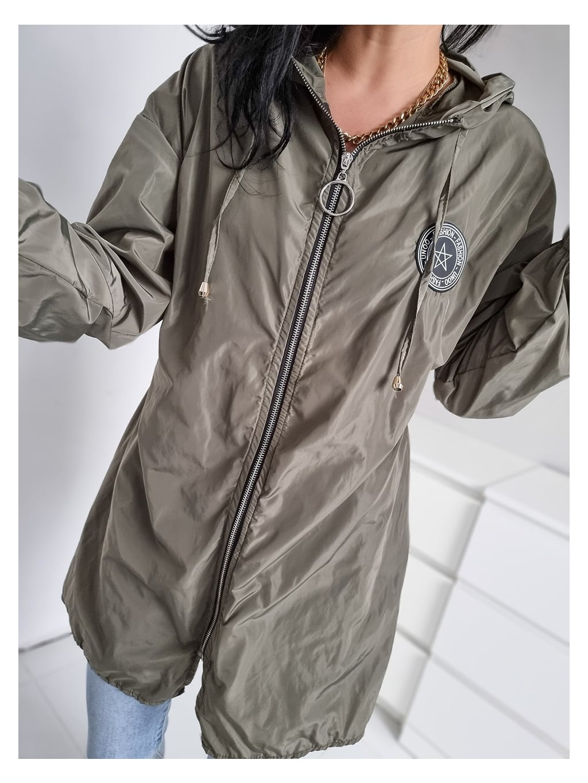 Dámska šušťiaková bunda Unoo - khaki