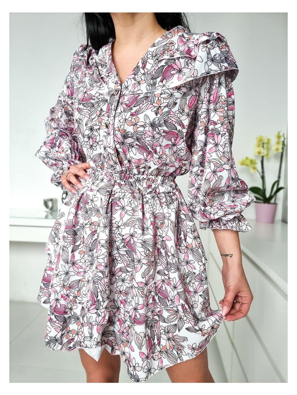 Dámske šaty Flora - pink