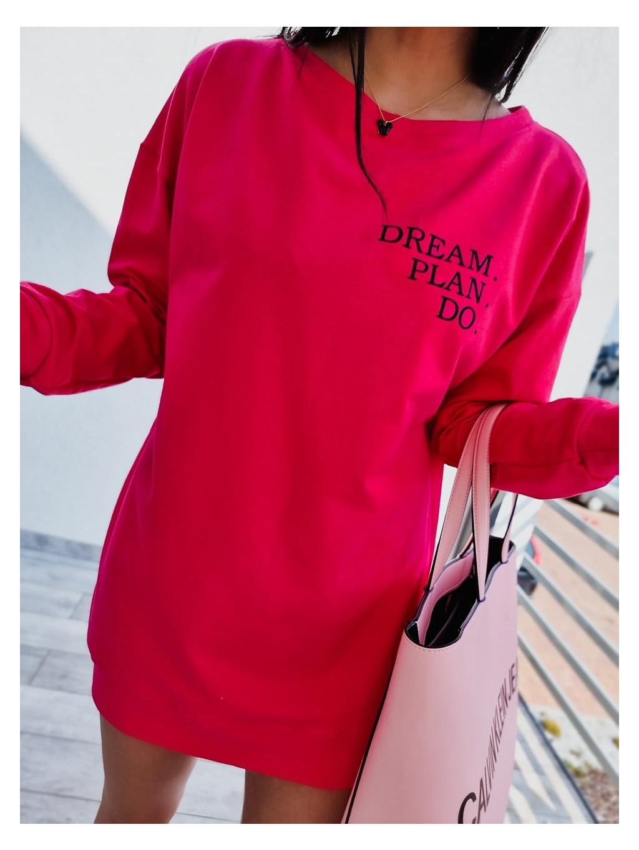 Dámska mikina Dream P.D - fuchsiová