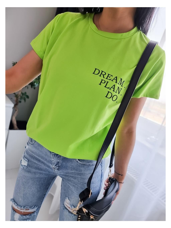 Dámske tričko Dream P.D - limetkové