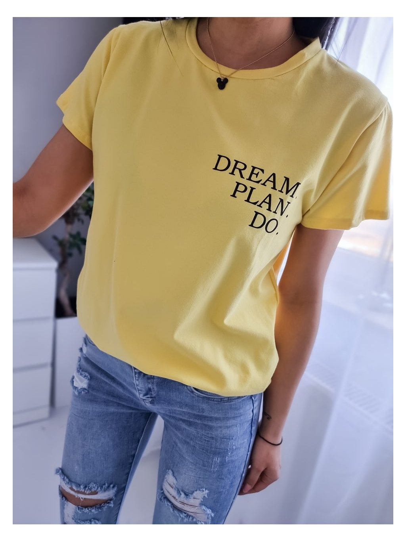 Dámske tričko Dream P.D - žlté