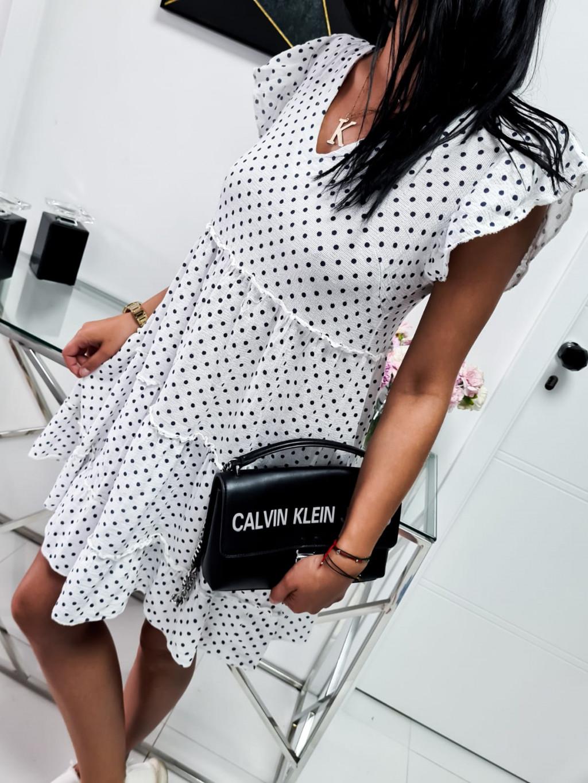 Dámske šaty Baby Dots - biele