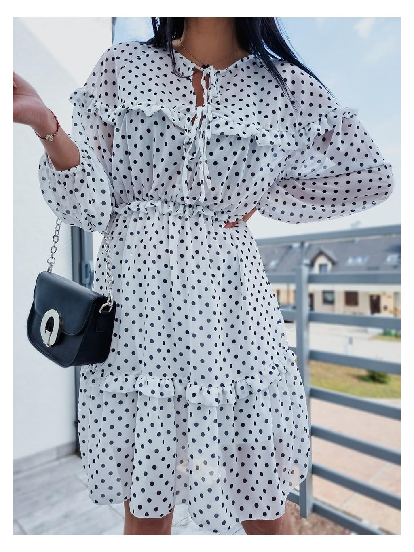 Dámske šaty Dots Long - biele