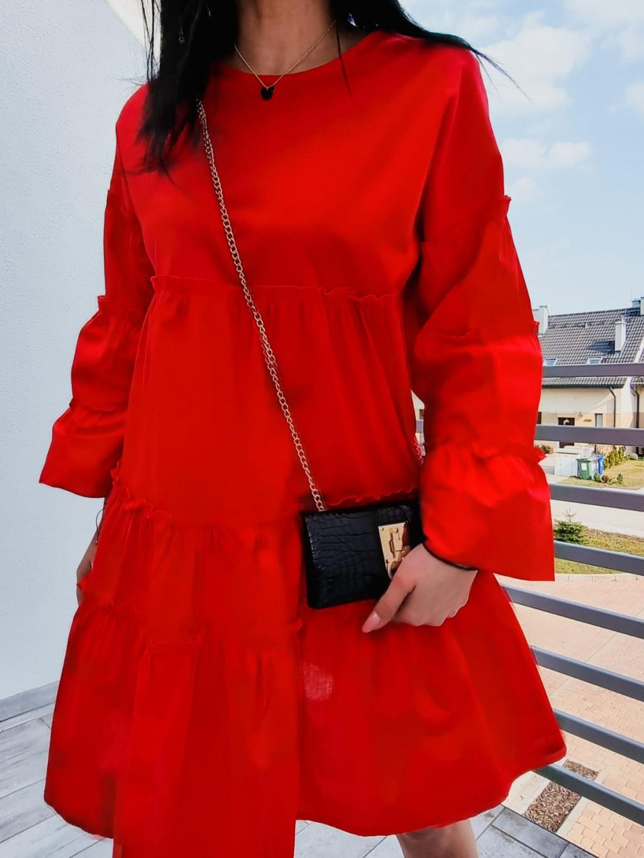 Dámske šaty Luna - červené