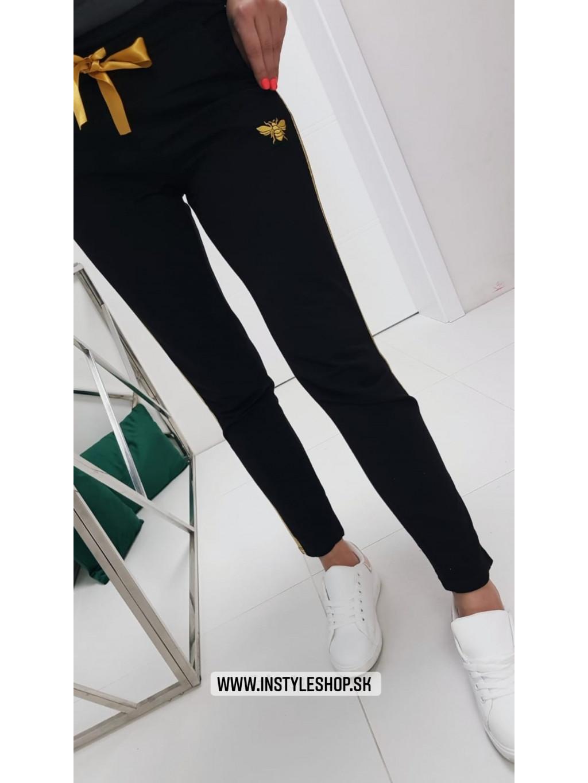 Teplákové nohavice Gold Bee - čierne