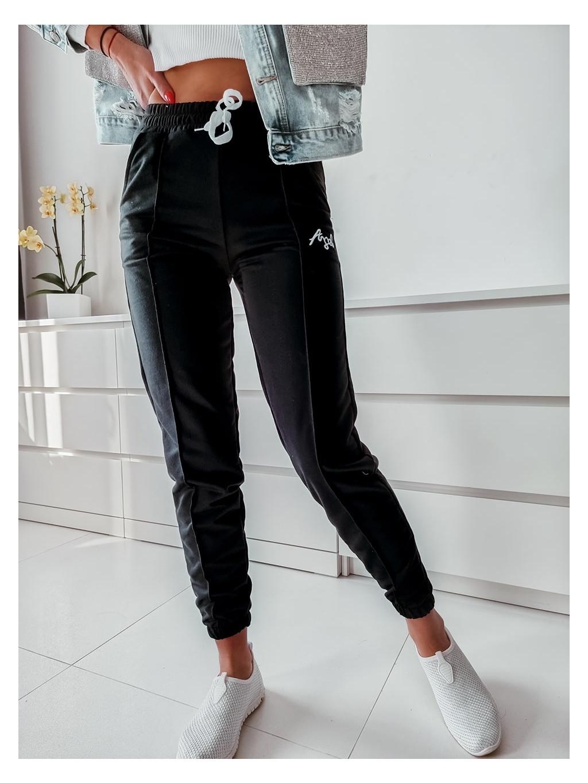 Teplákové nohavice Angel - čierne
