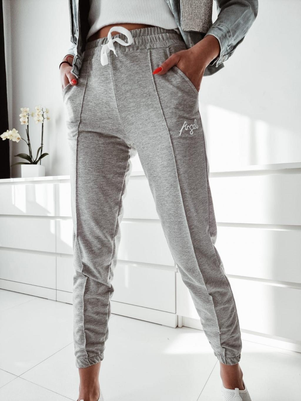 Teplákové nohavice Angel - sivé