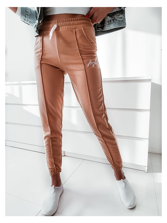 Teplákové nohavice Angel - bežové