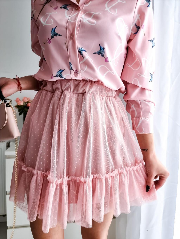 Šifónová sukňa Lady - ružová