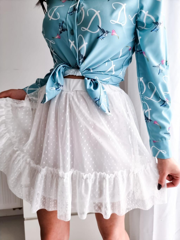 Šifónová sukňa Lady -biela
