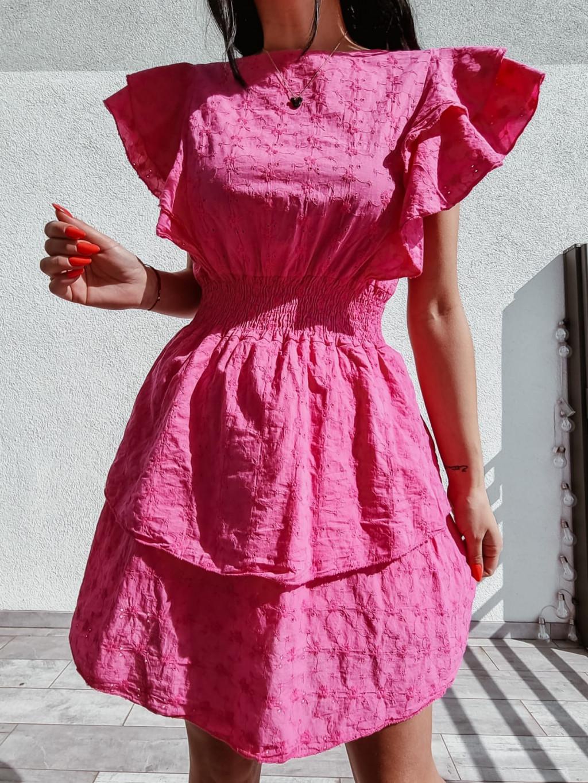 Madeirové šaty Laura - fuchsiové