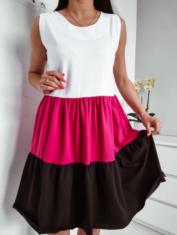 Šaty bez rukávov Grace - fuchs. čierne