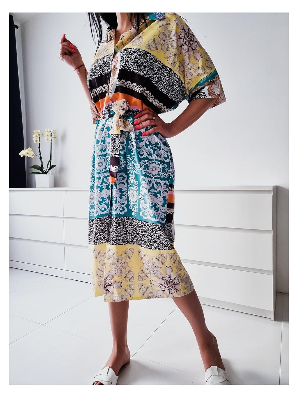 Košeľové šaty Orient - viacfarebné
