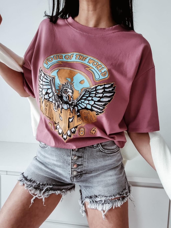 Dámske tričko Eagle - tmavoružové