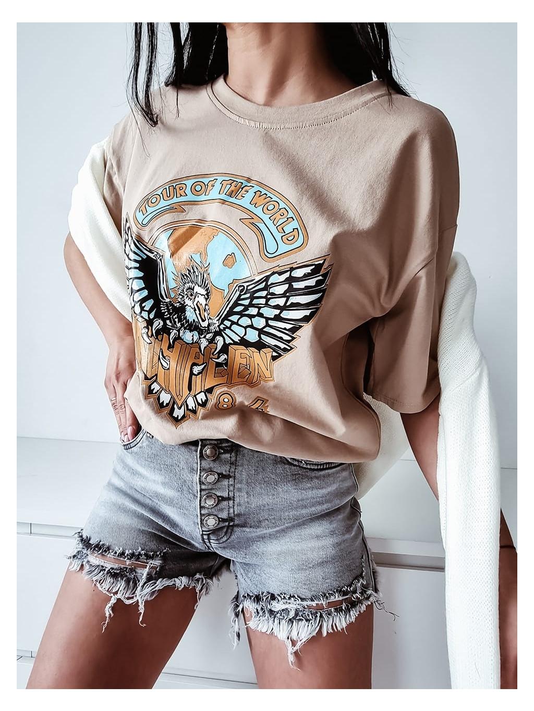 Dámske tričko Eagle - bežové