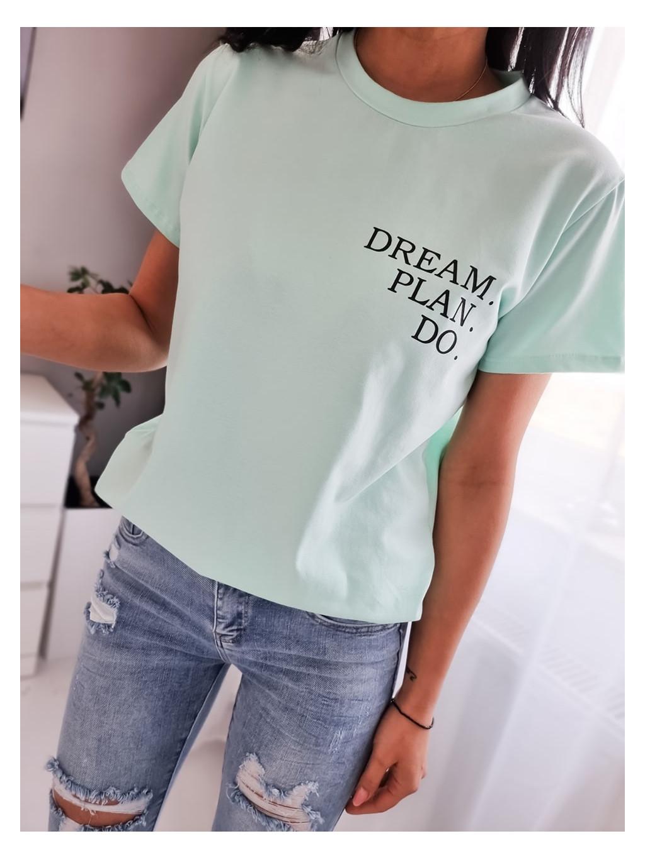 Dámske tričko Dream P.D - mätové