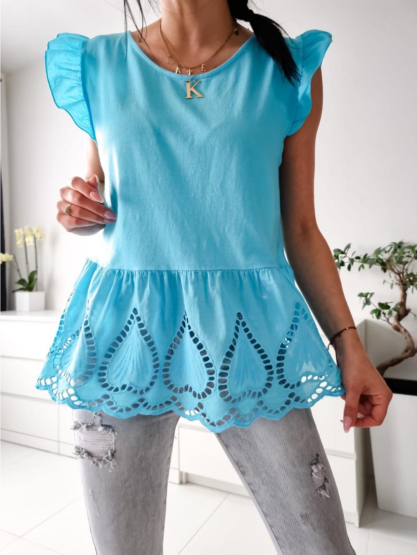 Bavlnený top Melina - tyrkysový