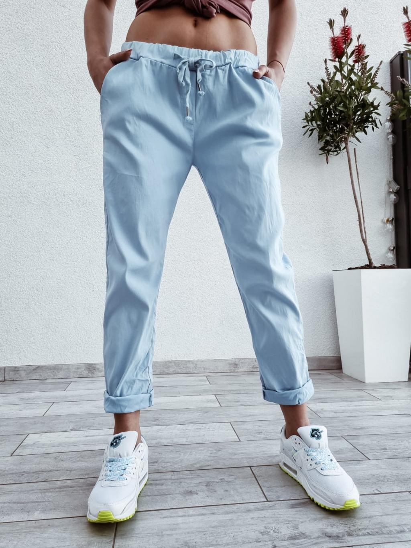 Dámske bavlnené nohavice Imagine - modré