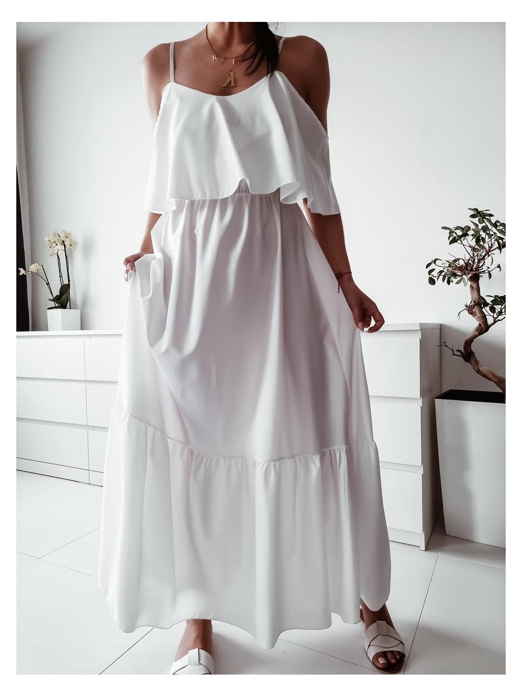 Dlhé šaty Kamada max - biele