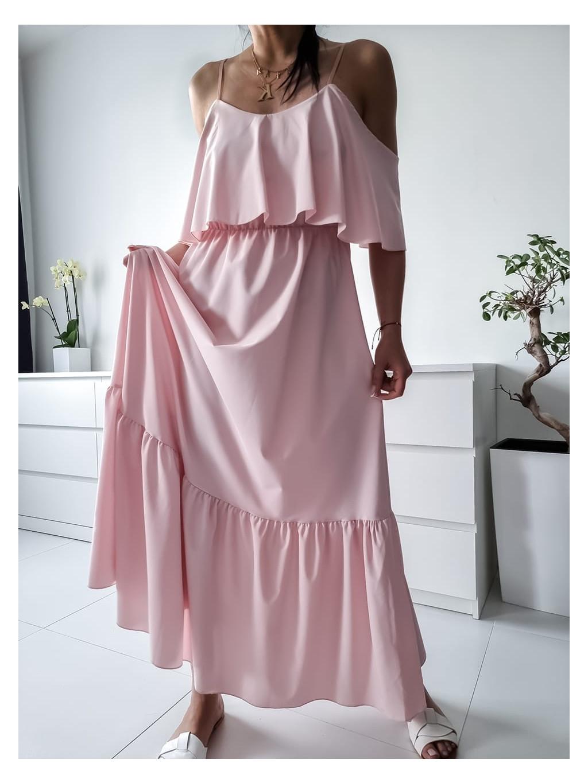 Dlhé šaty Kamada max - ružové