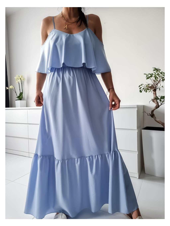 Dlhé šaty Kamada max - modré