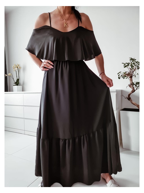 Dlhé šaty Kamada max - čierne