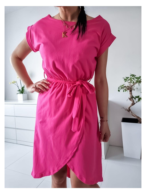 Bavlnené šaty Linda - fuchsiové