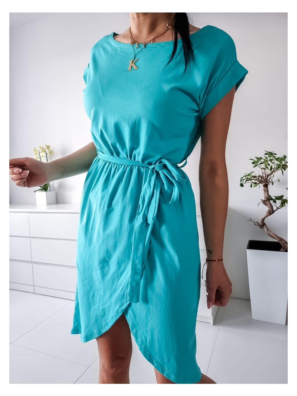 Bavlnené šaty Linda - tyrkysové