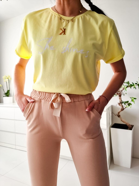 Dámske tričko She shines - žlté