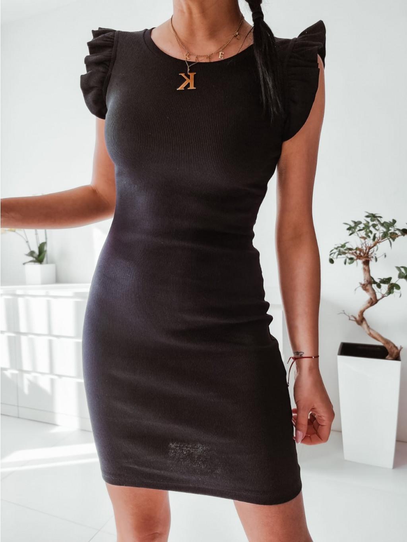 Dámske šaty s volánmi LaLita - čierne
