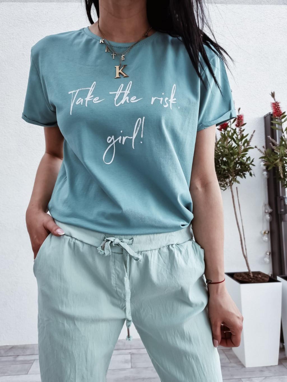 Dámske tričko Risk Girl - zelené