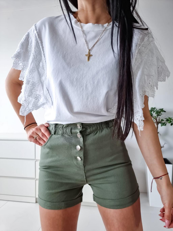 Bavlnené tričko Kelly - biele